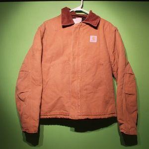 Men's Carhartt Jacket BRN Duck Canvas Work Size 42